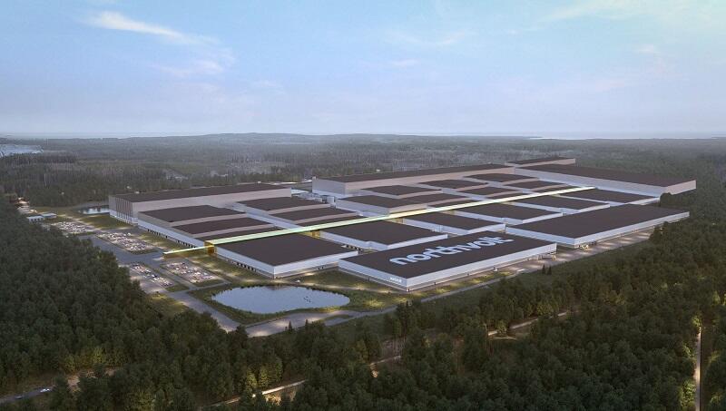 Wizualizacja fabryki Northvolt w Szwecji, która zostanie uruchomiona pod koniec br.
