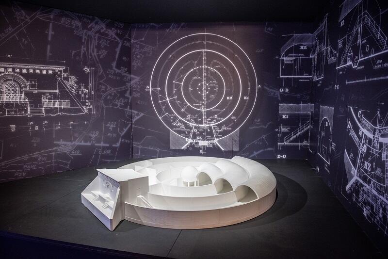 Fragment wystawy w Zbiorniku Wody Stary Sobieski
