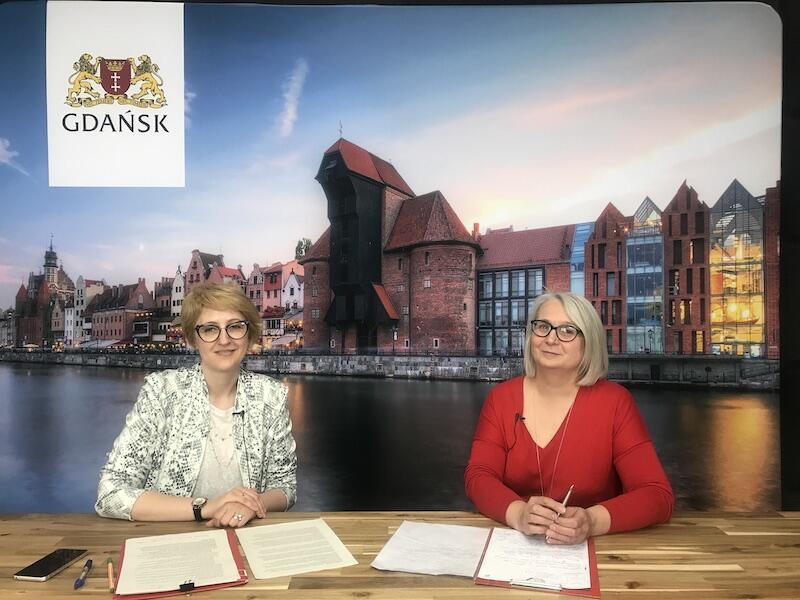 Nz. (od lewej): Marta Orańska-Szałomska, psycholog i psychoterapeutka oraz Teresa Smoła - dyrektor Gdańskiego Ośrodka Pomocy Psychologicznej dla Dzieci i Młodzieży