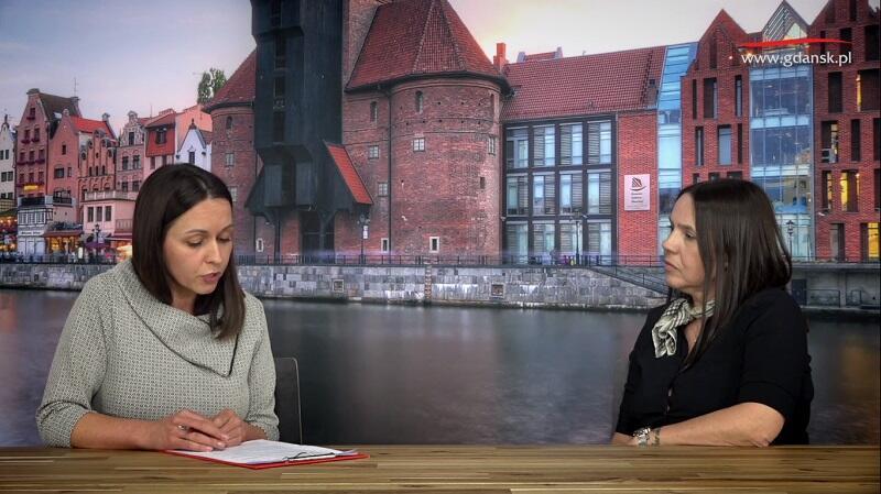 Nz. Natalia Gawlik - dziennikarka portalu Gdańsk.pl i Joanna Nowacka - starszy inspektor w Dziale Świadczeń Opiekuńczych, Gdańskie Centrum Świadczeń