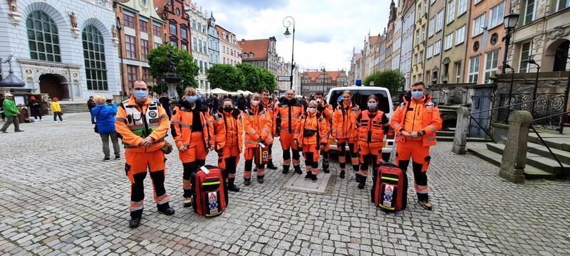 Ratownicy medyczni podczas finału Ligi Europy w Gdańsku