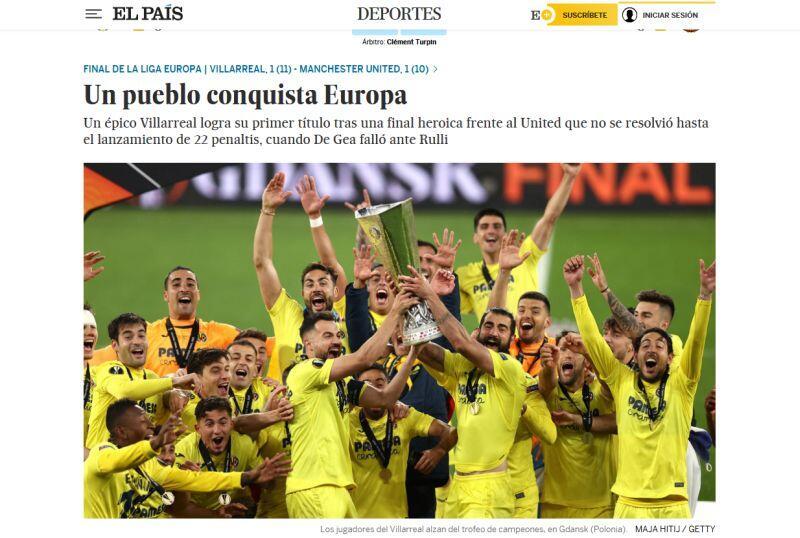 Apăsați ecranul de titlu cu un articol despre meci
