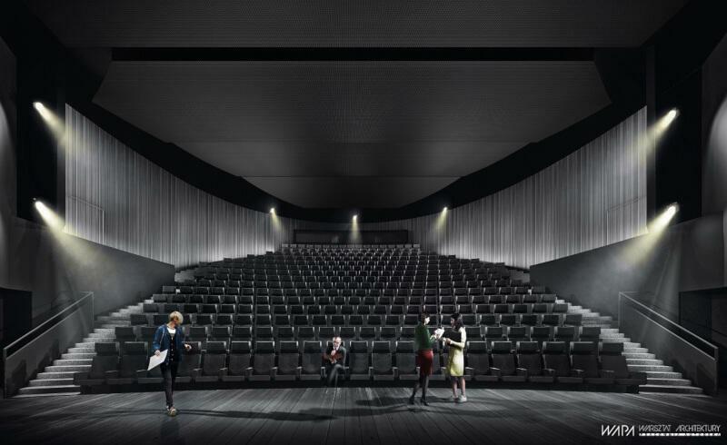 Wizualizacja: Duża Scena po modernizacji będzie inna - nie będzie miała balkonów, z których była ograniczona widoczność. Przebudowany zostanie też układ widowni