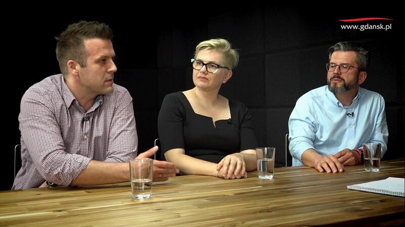 Na zdjęciu od lewej: Łukasz Wysocki (GOT), Ewa Patyk (GFIS), Paweł Golak (Hevelianum)