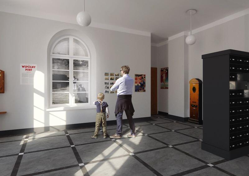 Wizualizacje nowych sal wystawowych. Autor: Anita Wasik - 2018 r.