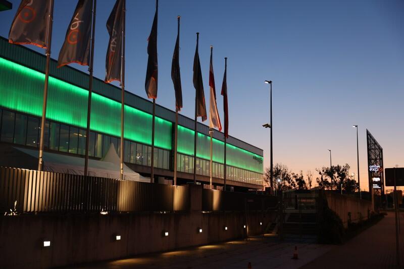 ... i AmberExpo - też na zielono. Tutaj od lat odbywa się duża część gdańskich imprez targowych, sympozjów i konferencji