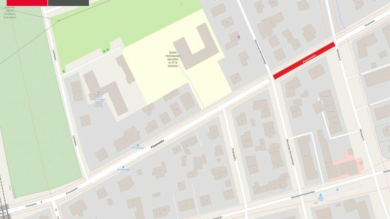 Fragment ulicy Piastowskiej, od ulicy Beniowskiego do Mściwoja II będzie zamknięty około miesiąca
