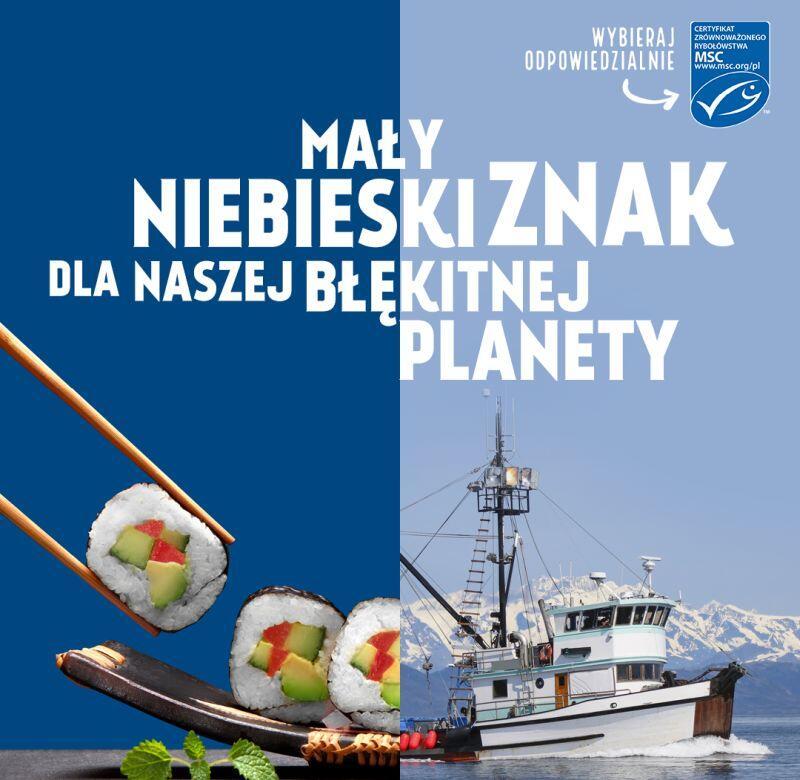 Jeden z banerów edukacyjnych na Światowy Dzień Oceanów