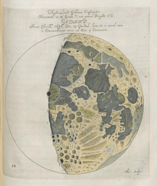 Faza księżyca - Jan Heweliusz, selenographia