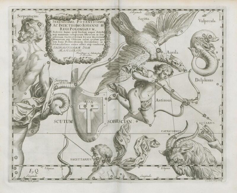Gwiazdozbior Scutum Sobiescianum - nazwany na cześć króla Jana III Sobieskiego