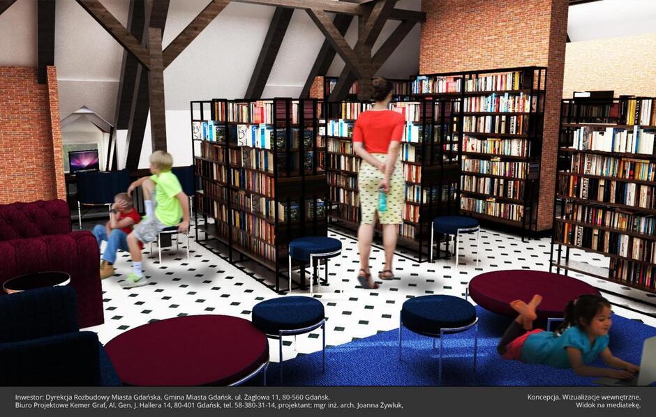 Biblioteka Ratuszowa przy ul. Gościnnej 1 będzie liczyła 339 mkw powierzchni.