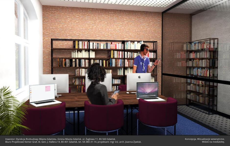 Księgozbiór w dawnym ratuszu będzie liczył 25 tys. książek i 2,5 tys. audiobooków. Ma to być miejsce nowoczesne i przyjazne czytelnikowi