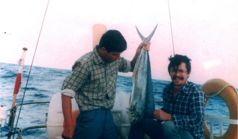 Grudzień 1980. W drodze z Ensenady do Hilo. Złapała się mahi, czyli koryfena