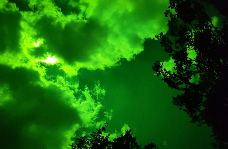 Niepokojąca chmura, która na jakiś czas utrudniła obserwację słońca
