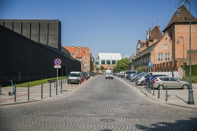 Fragment ulicy Bogusławskiego, który będzie zamknięty w sobotę, 12 czerwca - widok od strony ulicy Zbytki