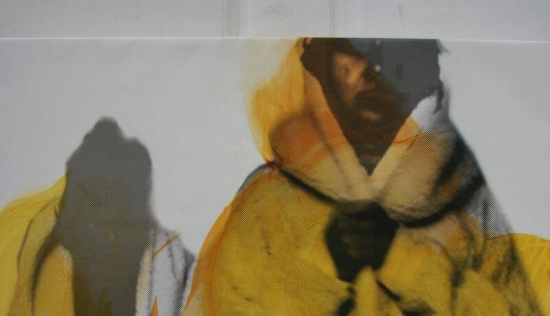 obraz zamazany w żółtych kolorach