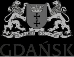 Herb Wielki Gdańska - wersja monochromatyczna