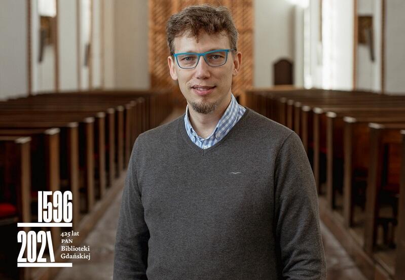 Andrzej Szadejko artysta, który od lat promuje dawną gdańską muzykę i czerpie w tym zakresie ze zbiorów BG PAN