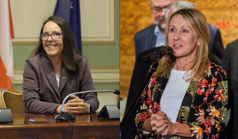 Nz. (od lewej) Kamila Błaszczyk - klub Koalicji Obywatelskiej i Beata Dunajewska - klub Wszystko dla Gdańska