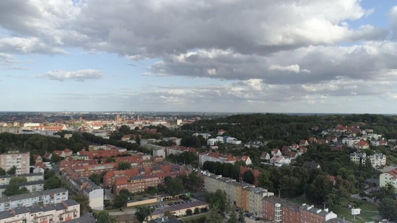 Gdańsk Siedlce - panorama dzielnicy: ulice Zakopiańska, Kartuska i Malczewskiego