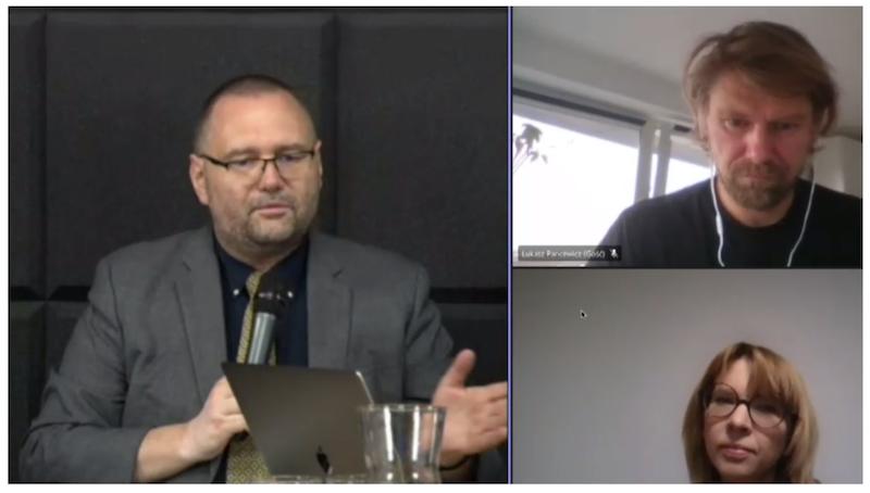 Piotr Lorens - Architekt Miasta Gdańska, dr Anna Golędzinowska - radna Miasta Gdańska, dr Łukasz Pancewicz - firma A2P2, Politechnika Gdańska