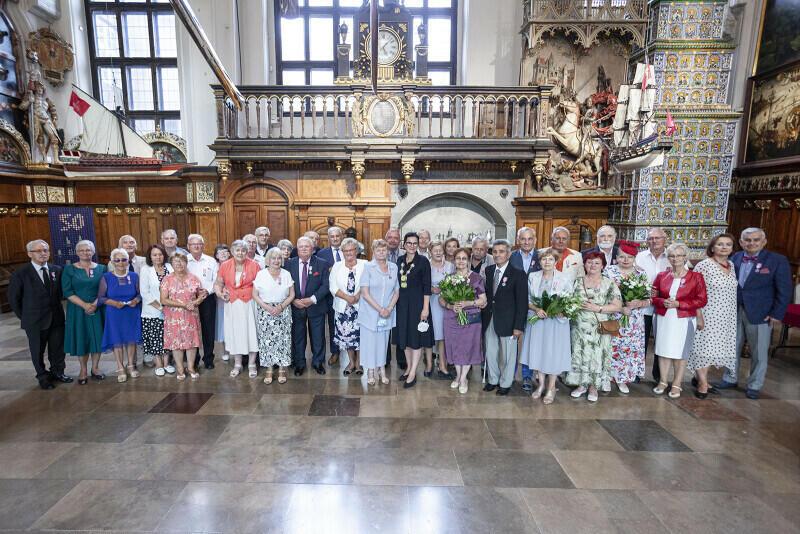 Tym razem jubileusz świętowały tylko pary z 50-letnim stażem, ale gdańscy małżonkowie mogą się pochwalić nawet przeszło 70-letnimi związkami