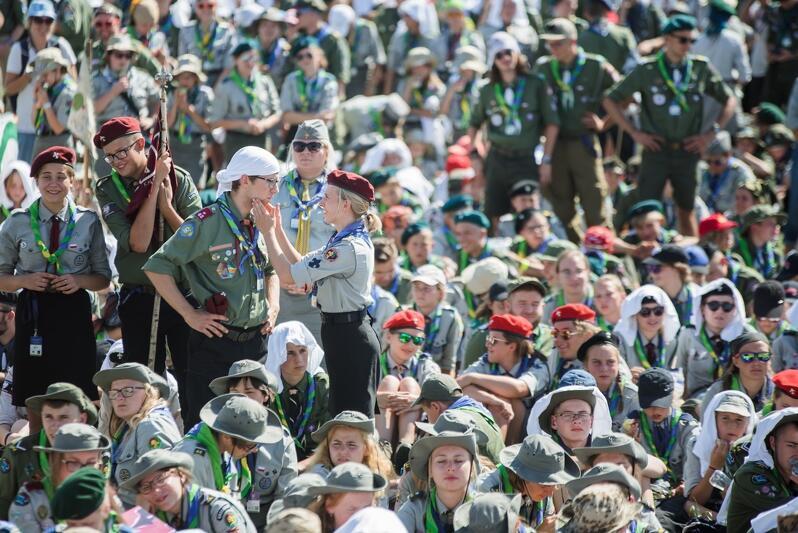 Zlot ZHP 2018 - do Gdańska przyjechało wówczas 15 tys. młodych ludzi ze Związku i z zagranicy