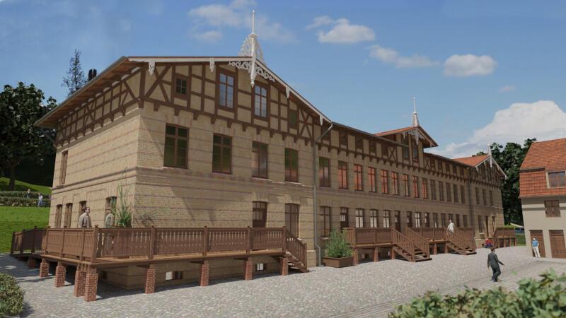 Wizualizacja budynku 21D - po remoncie będą tam m.in. miejsca noclegowe