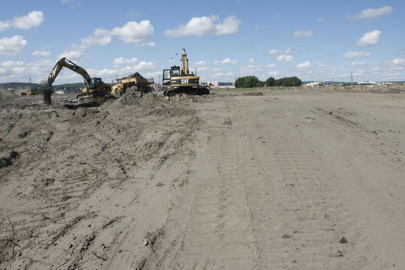 Prace porządkowe pod budowę stadionu trwają - 31 lipca 2008 roku