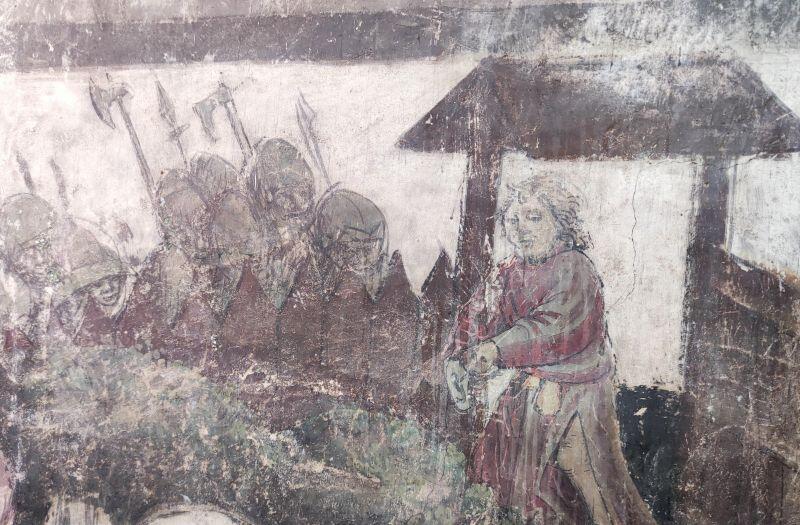 Jedna z lepiej zachowanych scen na malowidle