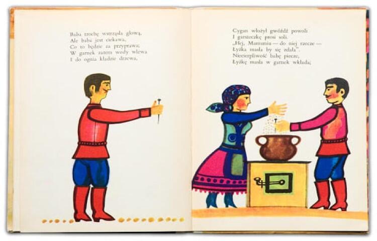 Ilustracja Mariana Stachurskiego z książki Bajki  Aleksandra Fredry, wyd. Nasza Księgarnia 1970 rok