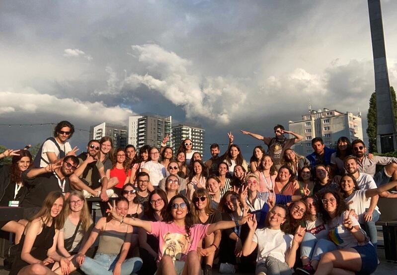 40 młodych Europejczyków, wolontariuszy Europejskiego Korpusu Solidarności spędza czas w Gdańsku na pracy, nauce i zabawie
