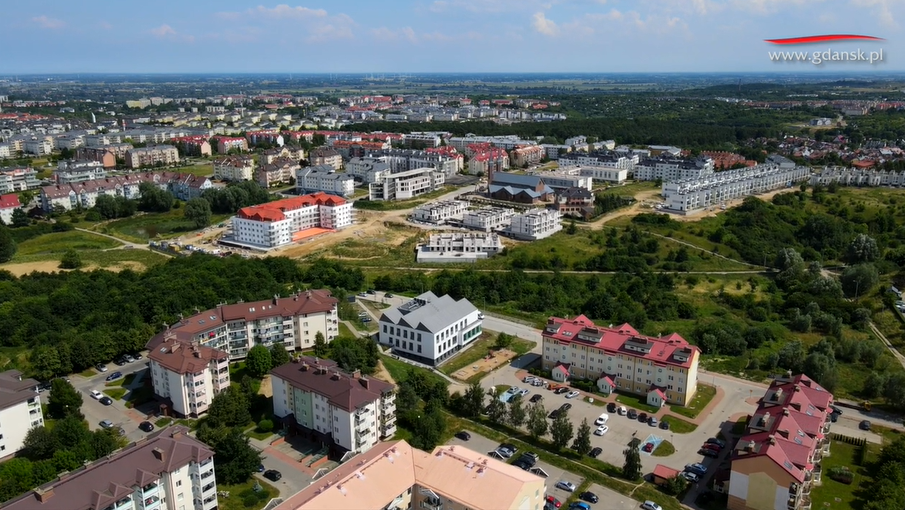 Zobaczcie Ujeścisko - Łostowice z wysokości 100 metrów!