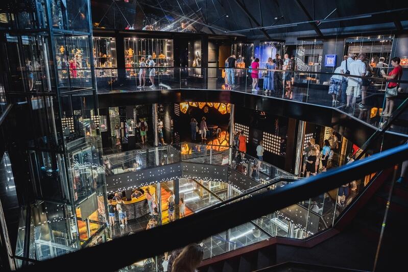 Muzeum Bursztynu w Wielkim Młynie - pierwszy dzień działalności, 24 lipca 2021 r.