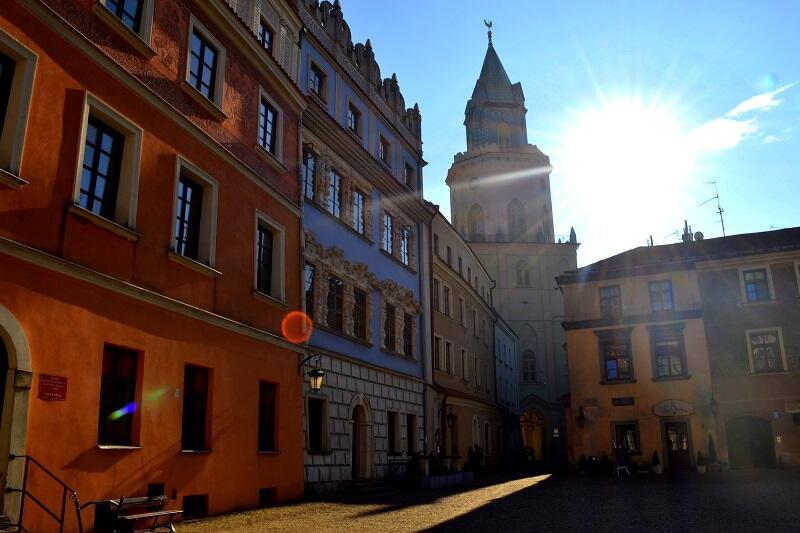 Zabudowa starego Lublina zachowała się w 70 proc. - rynek, w tle Brama Trynitarska