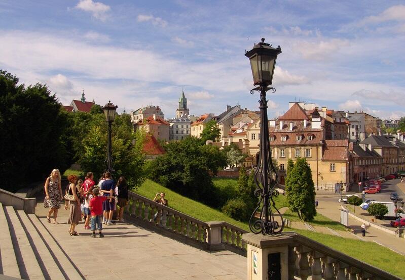 Stare Miasto w Lublinie widziane z perspektywy wzgórza zamkowego