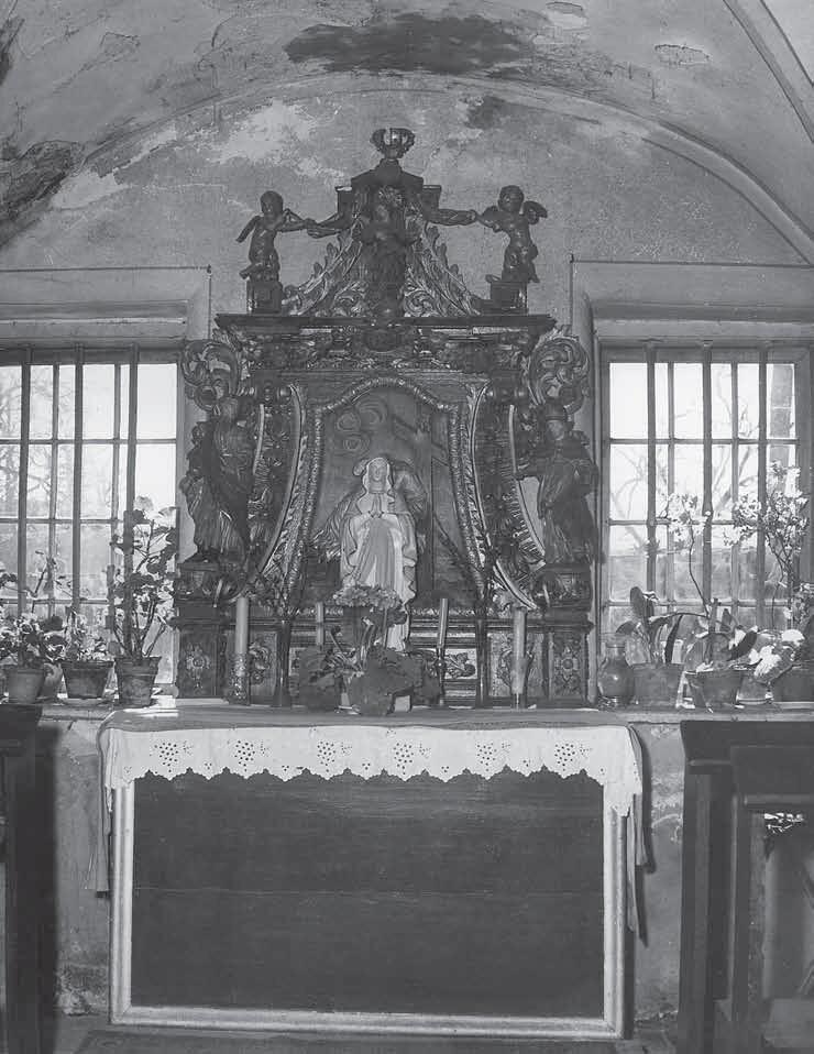 Kaplica z ołtarzem św. Bernarda; ok. 1961