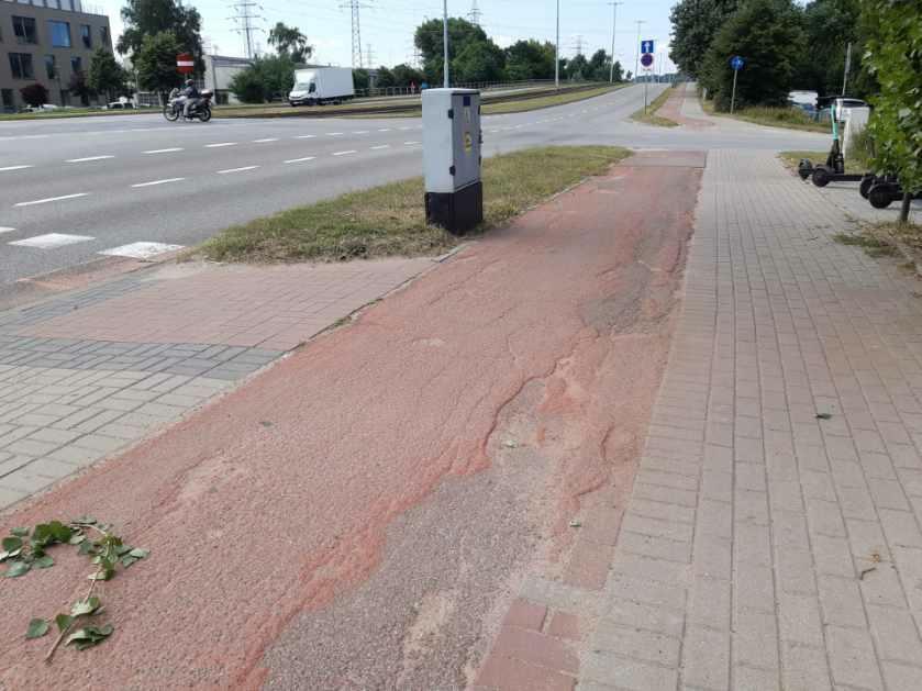 Prace remontowe prowadzone będą na 600-metrowym odcinku ścieżki rowerowej przy ul. Marynarki Polskiej od ul. Żaglowej do ul. Reja w kierunku centrum