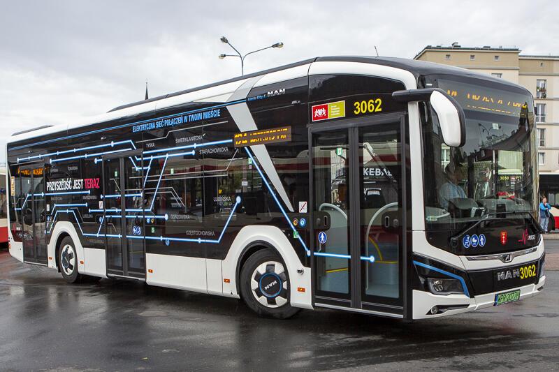 Testowany w Gdańsku autobus elektryczny MAN Lion's City E