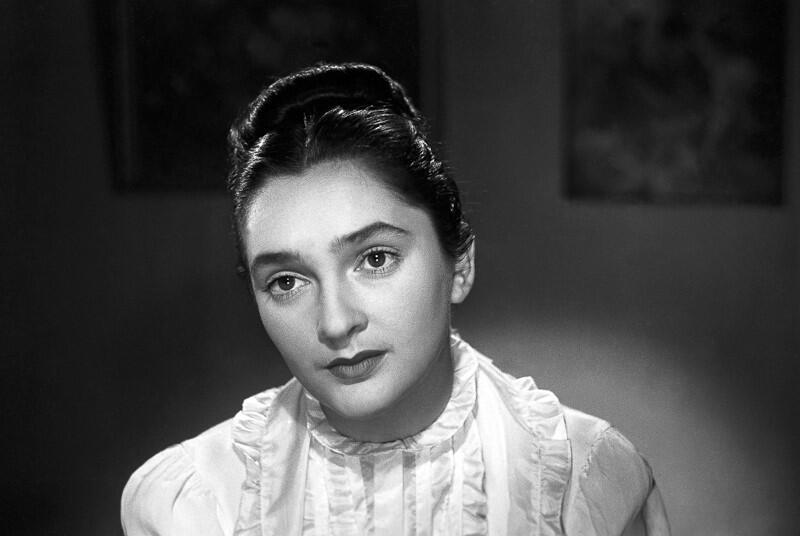 Bogusława Czosnowska w filmie Młodość Chopina, rok 1951