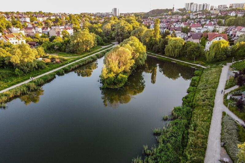 Zbiornik Wileńska widok z drona