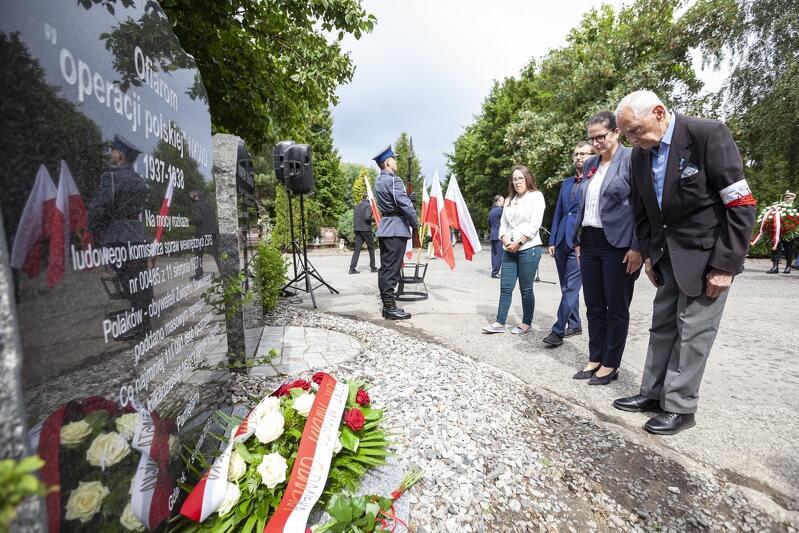 Cmentarz Łostowicki w Gdańsku. Uroczystości upamiętnienia ofiar operacji polskiej NKWD