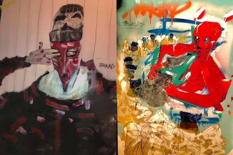 Prace Edwarda Pytlos inspirowane są m.in dziełami Egona Schiele, a także Wenecją - tamtejszą historią i sztuką