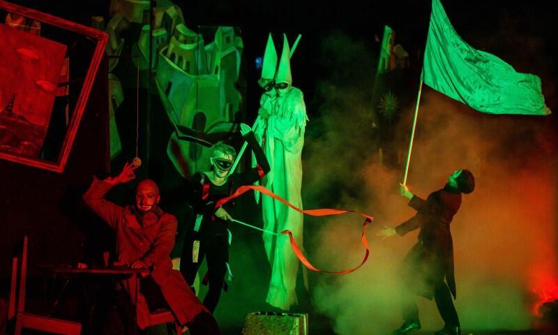Gdańsk Zaspa, 22 sierpnia 2021 r. Spektakl Once...  Antona Adasinskiyego w wykonaniu teatru Warszawskiego Centrum Pantomimy