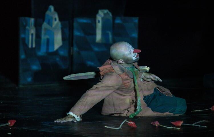 Zakochany w niej klaun (znakomita rola Bartłomieja Ostapczuka) jest waleczny i szlachetny, ale los szykuje wiele pułapek