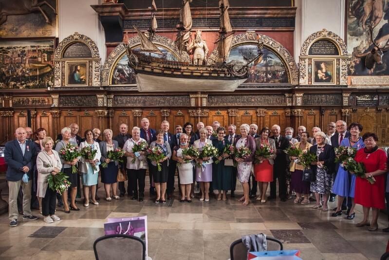 50-lecie pożycia małżeńskiego świętowało w Dworze Artusa 18 par