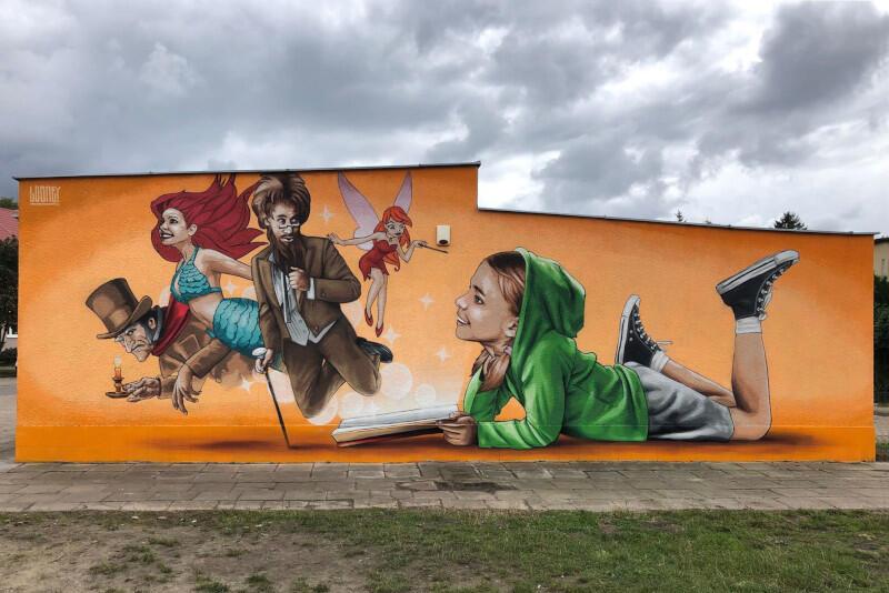 Mural Looneya powstał podczas ubiegłorocznego Miesiąca Bajki. Tegoroczna odsłona projektu rozpoczyna się 4 września i potrwa do 2 października