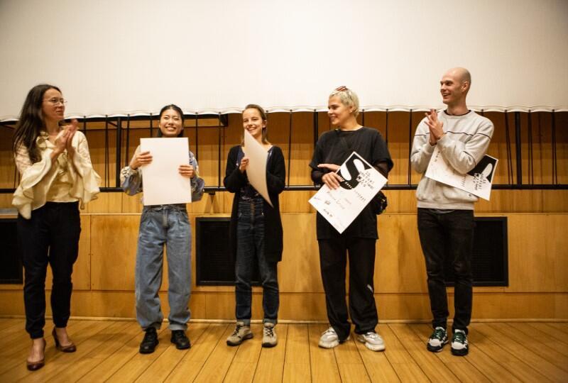 Kuratorka festiwalu Maria Miotk i laureaci Solo Dance Contest 2021: Sayaka Haruna-Kondracka, Mariya Salo, Katarzyna Leszek, Marcin Motyl