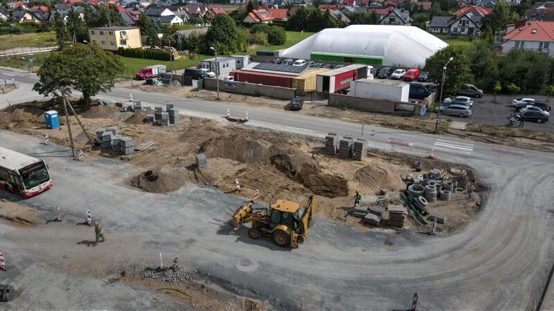 Prace przy budowie węzła integracyjnego w Osowej potrwają do października br.