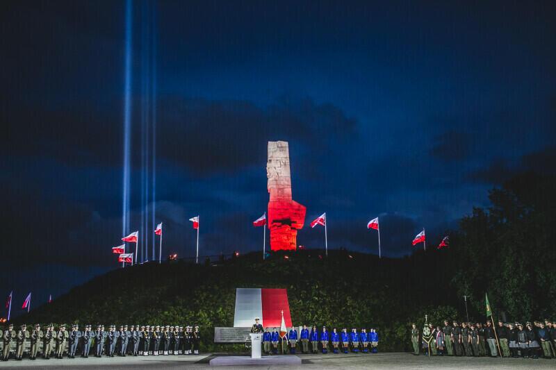 Westerplatte, poranek 1 września 2021 roku, 82. rocznica wybuchu drugiej wojny światowej